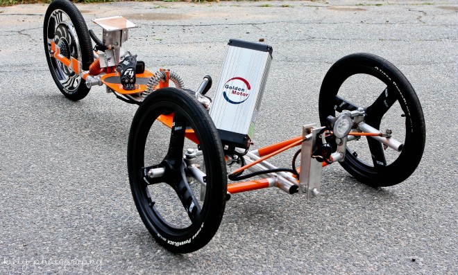 Tribey Electric Trike Can Be Ridden Standing Or Recumbent Gizmag