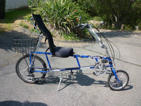 This Is A Used Sun Ez 1 Recumbent Bike Nice Ride Comfy Seat 21 Gears With Extras Basket Double Kickstand Water Bottle Carrier