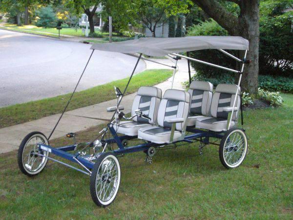Clbot Cl Rhoades Car 4 Wheel Bicycle Quadricycle Recumbent Bike