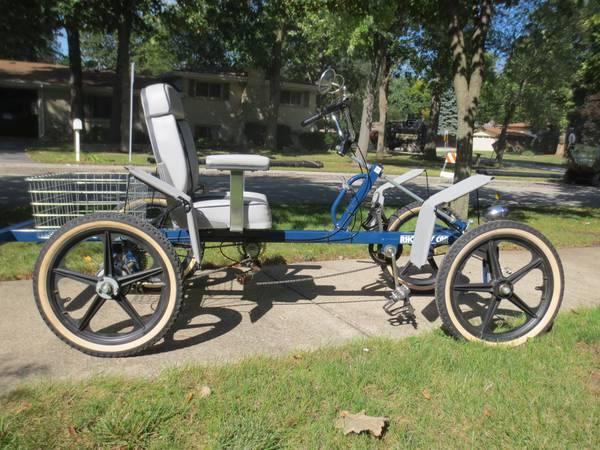 Clbot Cl Rhoades Car 4 Wheel Recumbent Bike Bicycle Wood Dale
